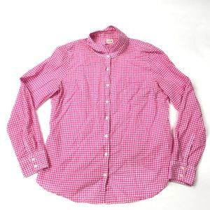 J Crew The Perfect Shirt Gingham Plaid 32